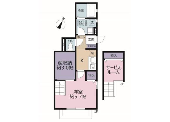 1K Apartment to Rent in Sakura-shi Floorplan