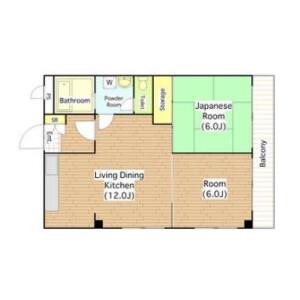 2LDK Mansion in Nagaihigashi - Osaka-shi Sumiyoshi-ku Floorplan