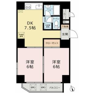 2DK Mansion in Taishido - Setagaya-ku Floorplan