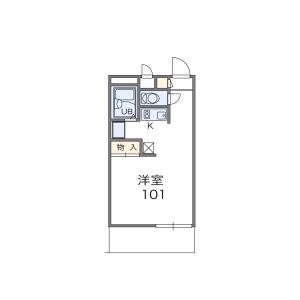 1K Mansion in Kusatsucho - Kusatsu-shi Floorplan