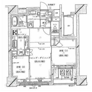 2LDK Mansion in Senzoku - Taito-ku Floorplan