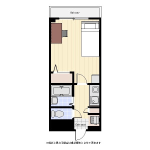 1K Mansion in Sakuragicho - Saitama-shi Omiya-ku Floorplan