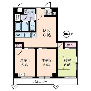 3DK Mansion in Takinogawa - Kita-ku Floorplan