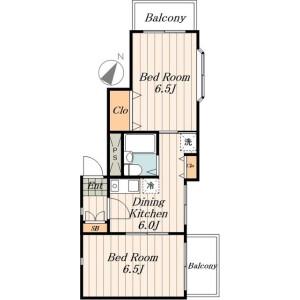 2DK Mansion in Sakura - Setagaya-ku Floorplan