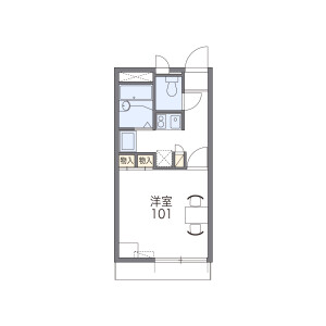 1K Apartment in Nakaishikiricho - Higashiosaka-shi Floorplan