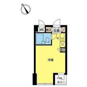 1R Mansion in Tabatashimmachi - Kita-ku Floorplan