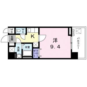 1K Mansion in Haramachida - Machida-shi Floorplan