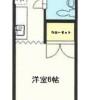 在羽村市内租赁1K 公寓大厦 的 楼层布局