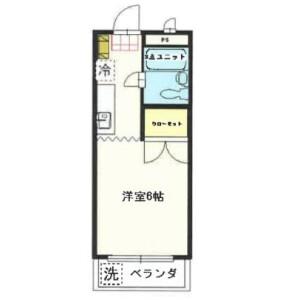 羽村市羽加美-1K公寓大厦 楼层布局