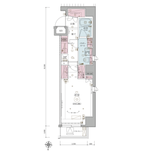 1K Apartment in Kotobashi - Sumida-ku Floorplan