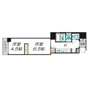1LDK Apartment in Minamikyuhojimachi - Osaka-shi Chuo-ku Floorplan