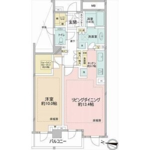 港區西麻布-1LDK{building type} 房間格局
