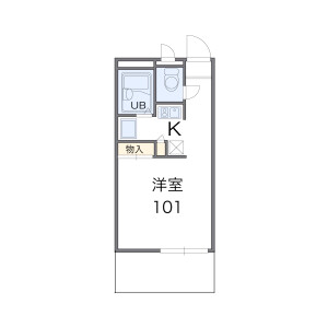 1K Mansion in Sunjiyata - Osaka-shi Higashisumiyoshi-ku Floorplan
