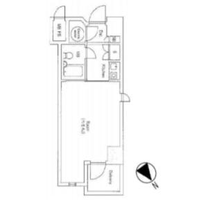 豊岛区東池袋-1K{building type} 楼层布局