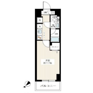 川口市並木-1K公寓大廈 房間格局
