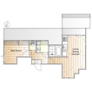 1LDK Apartment in Shimouma - Setagaya-ku Floorplan