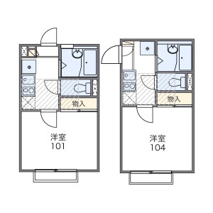 1K Apartment in Shimoma - Setagaya-ku Floorplan