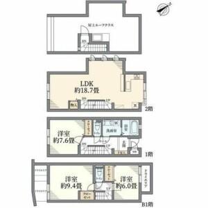 3LDK {building type} in Kamimeguro - Meguro-ku Floorplan