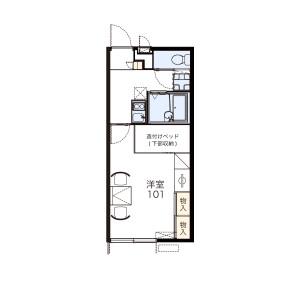 1K Apartment in Shinyoshidahigashi - Yokohama-shi Kohoku-ku Floorplan