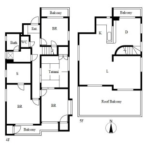 4SLDK Mansion in Takayashiro - Nagoya-shi Meito-ku Floorplan