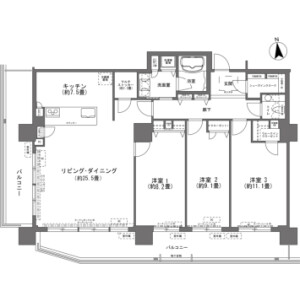 3LDK {building type} in Makishi - Naha-shi Floorplan