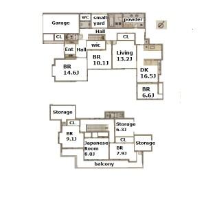 6SLDK House in Ueno higashi - Toyonaka-shi Floorplan