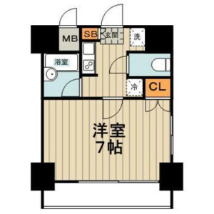 1K Mansion in Tsukishima - Chuo-ku Floorplan