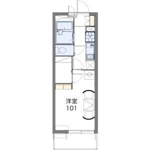 1K Mansion in Mozunishinocho - Sakai-shi Kita-ku Floorplan