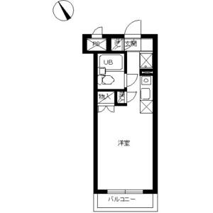 1R Mansion in Horikiri - Katsushika-ku Floorplan
