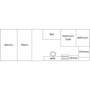 1K Mansion in Giommachi - Fukuoka-shi Hakata-ku Floorplan