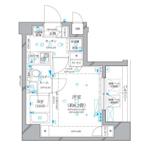 1K Mansion in Nihombashikayabacho - Chuo-ku Floorplan