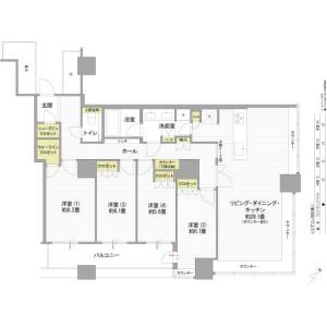 4LDK Apartment in Kachidoki - Chuo-ku Floorplan