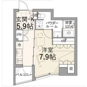 1DK Mansion in Shimotakaido - Suginami-ku Floorplan