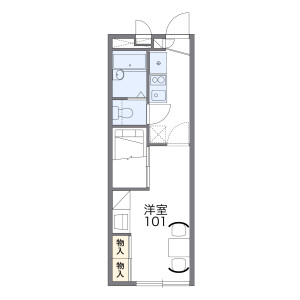 1K Mansion in Mikuriya nishinocho - Higashiosaka-shi Floorplan