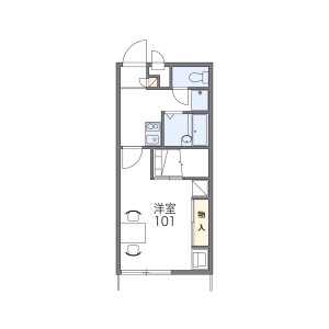 1K Apartment in Tomodamachi - Ome-shi Floorplan