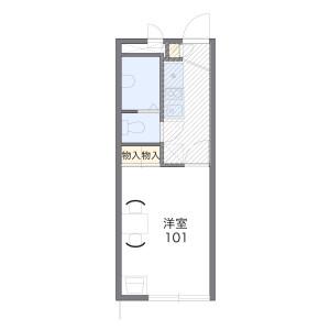 横浜市保土ケ谷区東川島町-1K公寓 楼层布局
