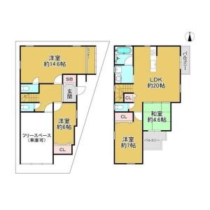 大阪市住吉区長居-4LDK{building type} 楼层布局