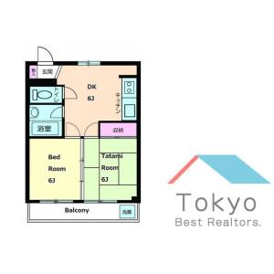 2DK Mansion in Yotsuya - Shinjuku-ku Floorplan
