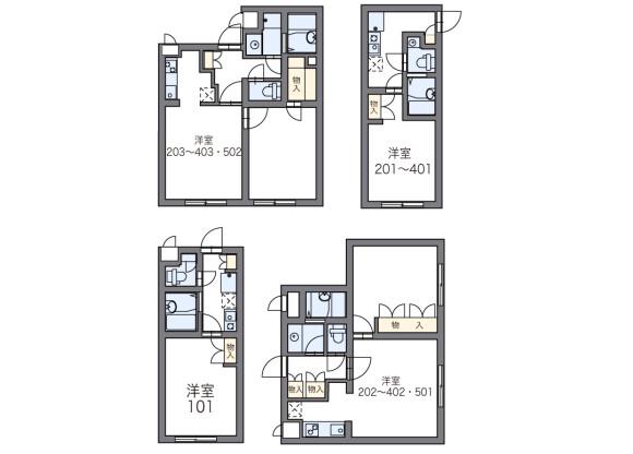 1K Apartment to Rent in Nakano-ku Floorplan