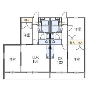 2DK Apartment in Katahira - Kawasaki-shi Asao-ku Floorplan