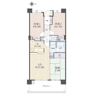 3LDK {building type} in Kojiyahoncho - Adachi-ku Floorplan
