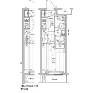 1K Mansion in Nishishinagawa - Shinagawa-ku Floorplan
