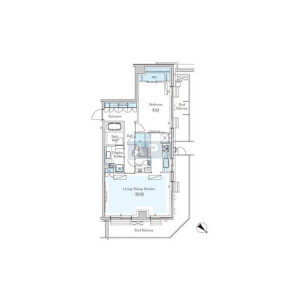 1LDK Mansion in Jingumae - Shibuya-ku Floorplan