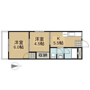 2K Apartment in Towa - Adachi-ku Floorplan