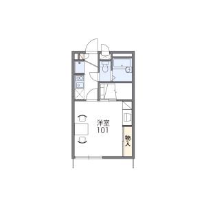1K Apartment in Shimpukuji - Yuki-shi Floorplan