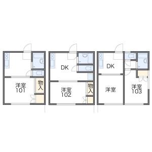 1DK Apartment in Asahicho - Kashiwa-shi Floorplan