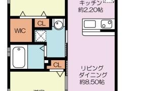 2LDK {building type} in Kamigofukumachi - Fukuoka-shi Hakata-ku