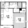 1DK Apartment to Rent in Minato-ku Floorplan