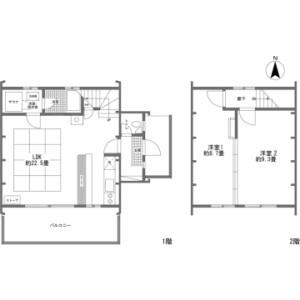 2LDK {building type} in Kitayama(sonota) - Chino-shi Floorplan