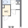 在海老名市内租赁1K 公寓 的 楼层布局